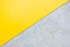 Yellow and gray wall