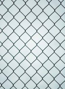 close up of a metal gate