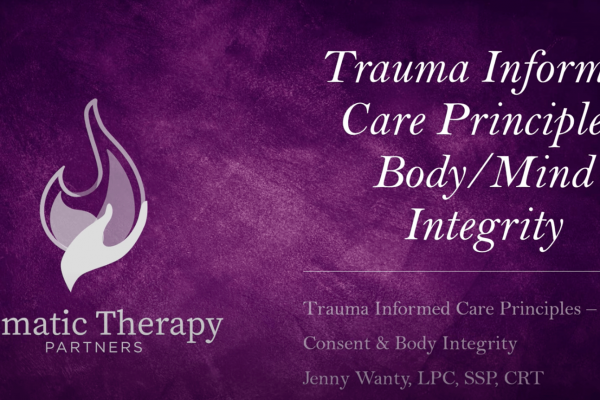 Trauma Informed Care: Consent and Body Integrity
